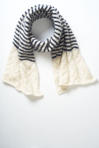 Striped Mohair Scarf - BIBICO