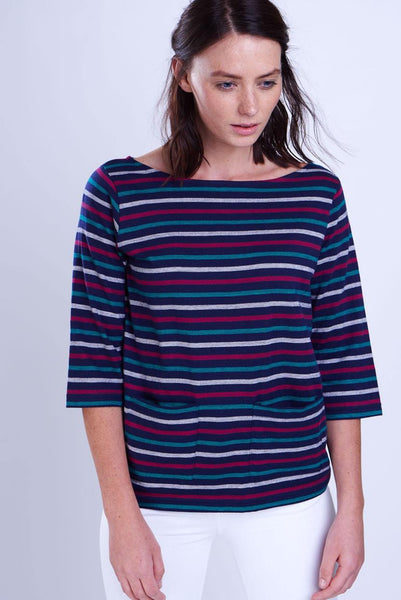 Striped Organic Cotton Tee - BIBICO