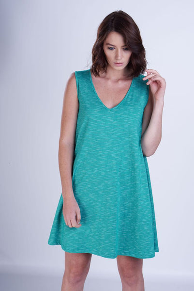 Swing Tunic in Organic Cotton Slub - BIBICO