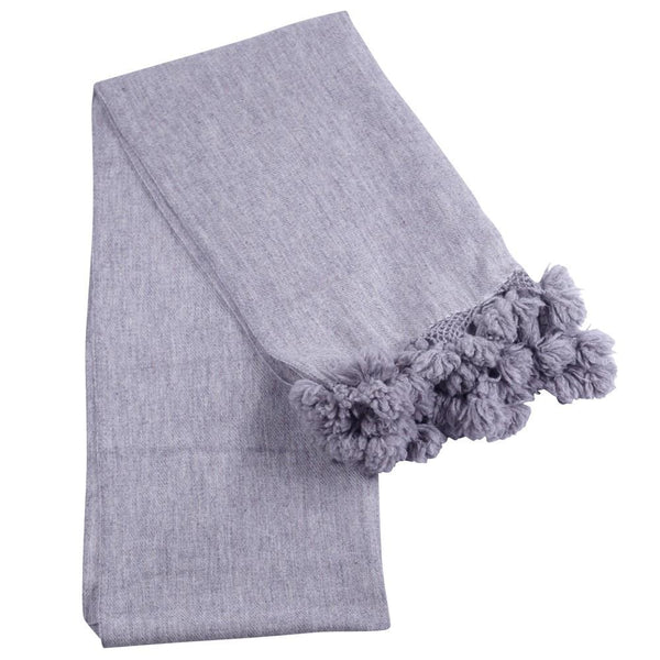 The Lux Grey Cashmere Scarf - BIBICO