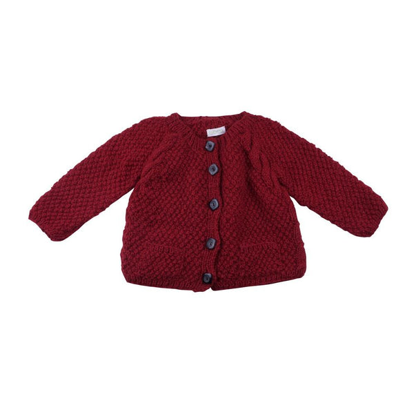 Twin Cable Knit Cardigan - BIBICO