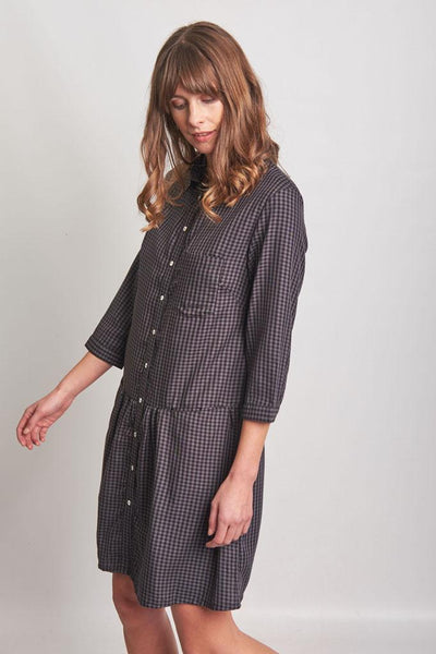 Ursula Check Shirt Dress - BIBICO