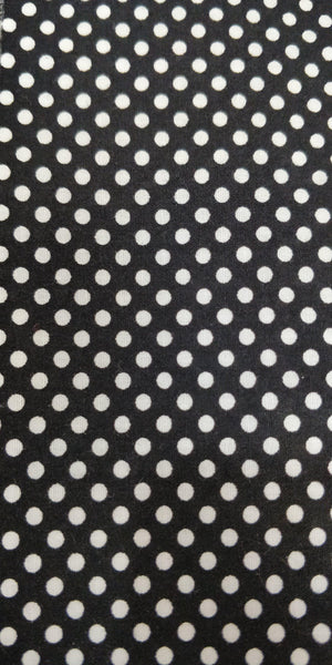 Black and White Polka Dot- 100% Cotton - 150cm Wide