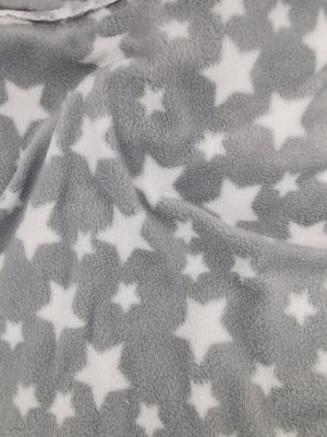 Polar Fleece - Grey Stars - 3.5 x 1.6m Pre cut