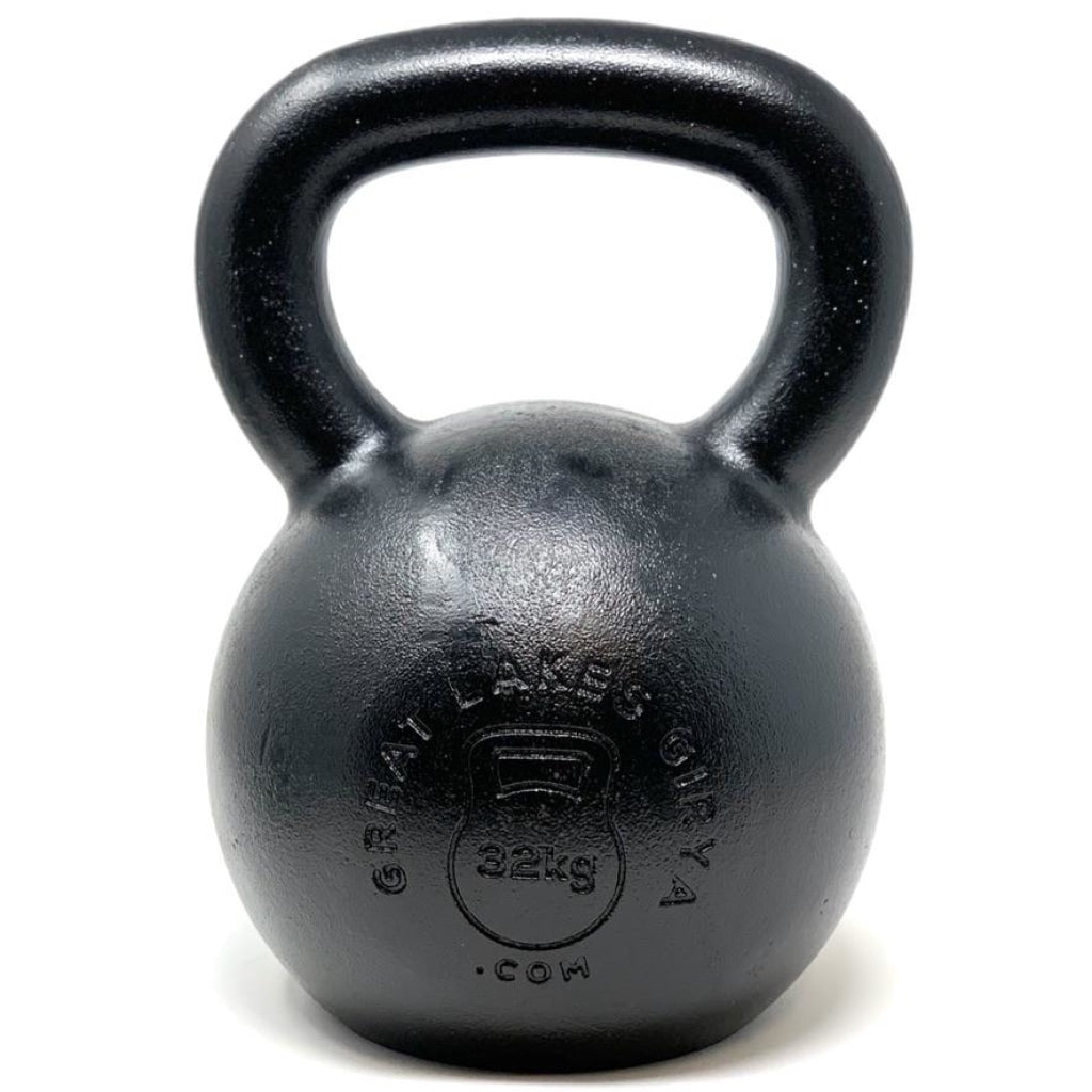 32kg / 70lbs E-coated Cast Iron Kettlebell - Great Lakes Strength Manufacturing
