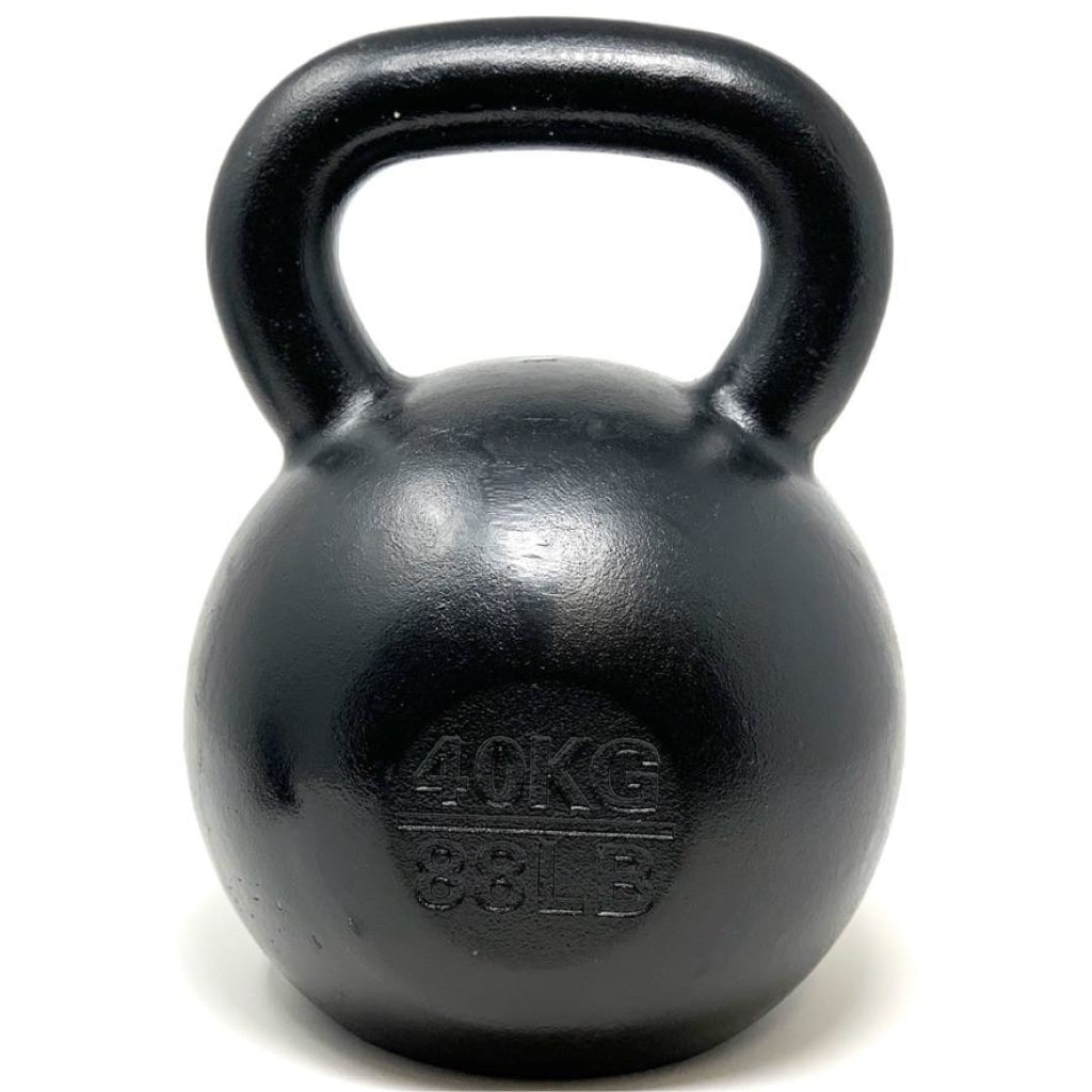 40kg / 88lbs   E-coated Cast Iron Kettlebell - Great Lakes Strength Manufacturing