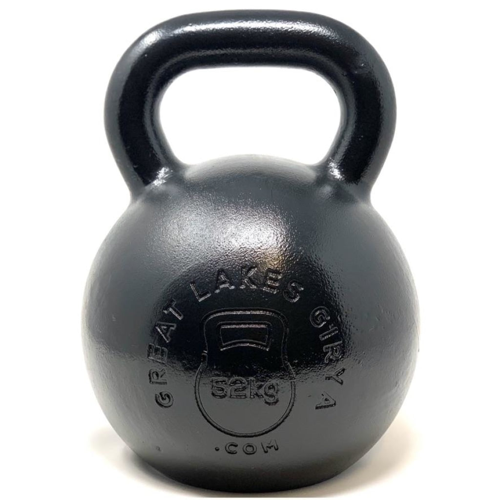 52kg / 114lbs E-coated Cast Iron Kettlebell - Great Lakes Strength Manufacturing