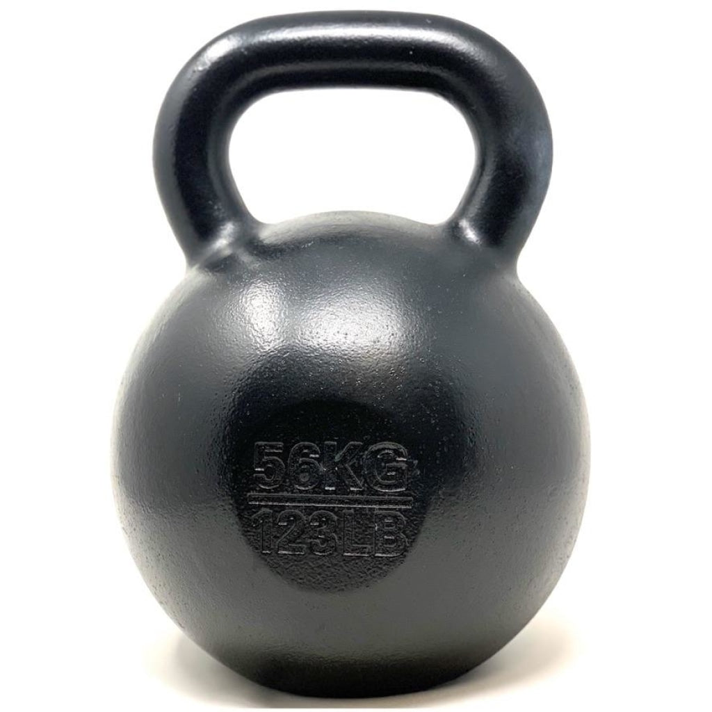 56kg / 123lbs E-coated Cast Iron Kettlebell - Great Lakes Strength Manufacturing