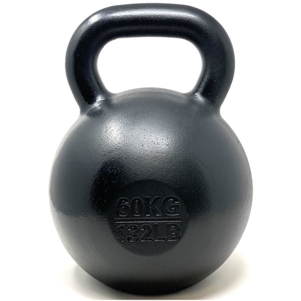 60kg / 132lbs E-coated Cast Iron Kettlebell - Great Lakes Strength Manufacturing