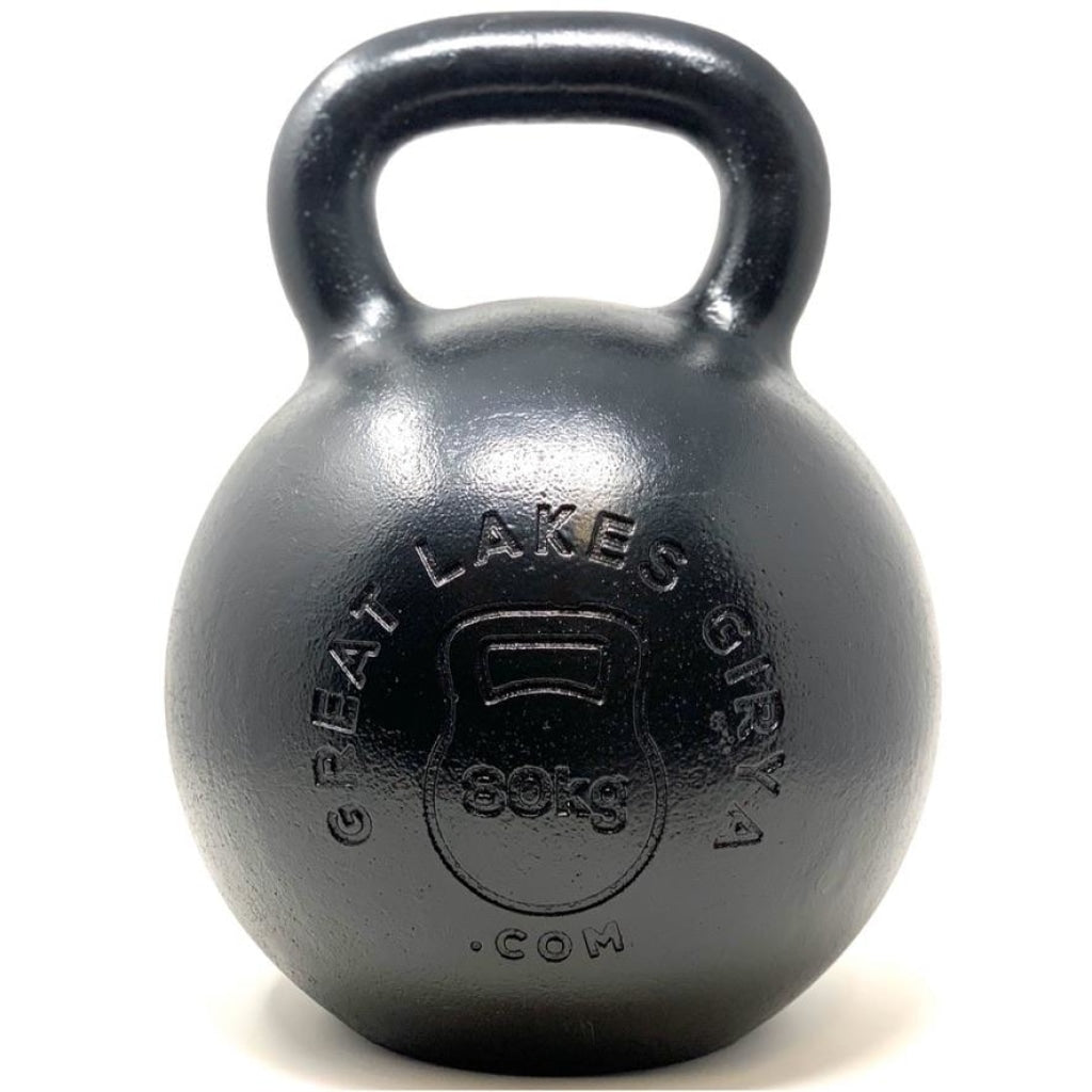 80kg / 176lbs E-coated Cast Iron Kettlebell - Great Lakes Strength Manufacturing
