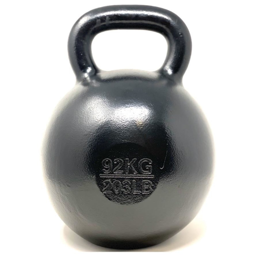 92kg / 203lbs E-coated Cast Iron Kettlebell - Great Lakes Strength Manufacturing