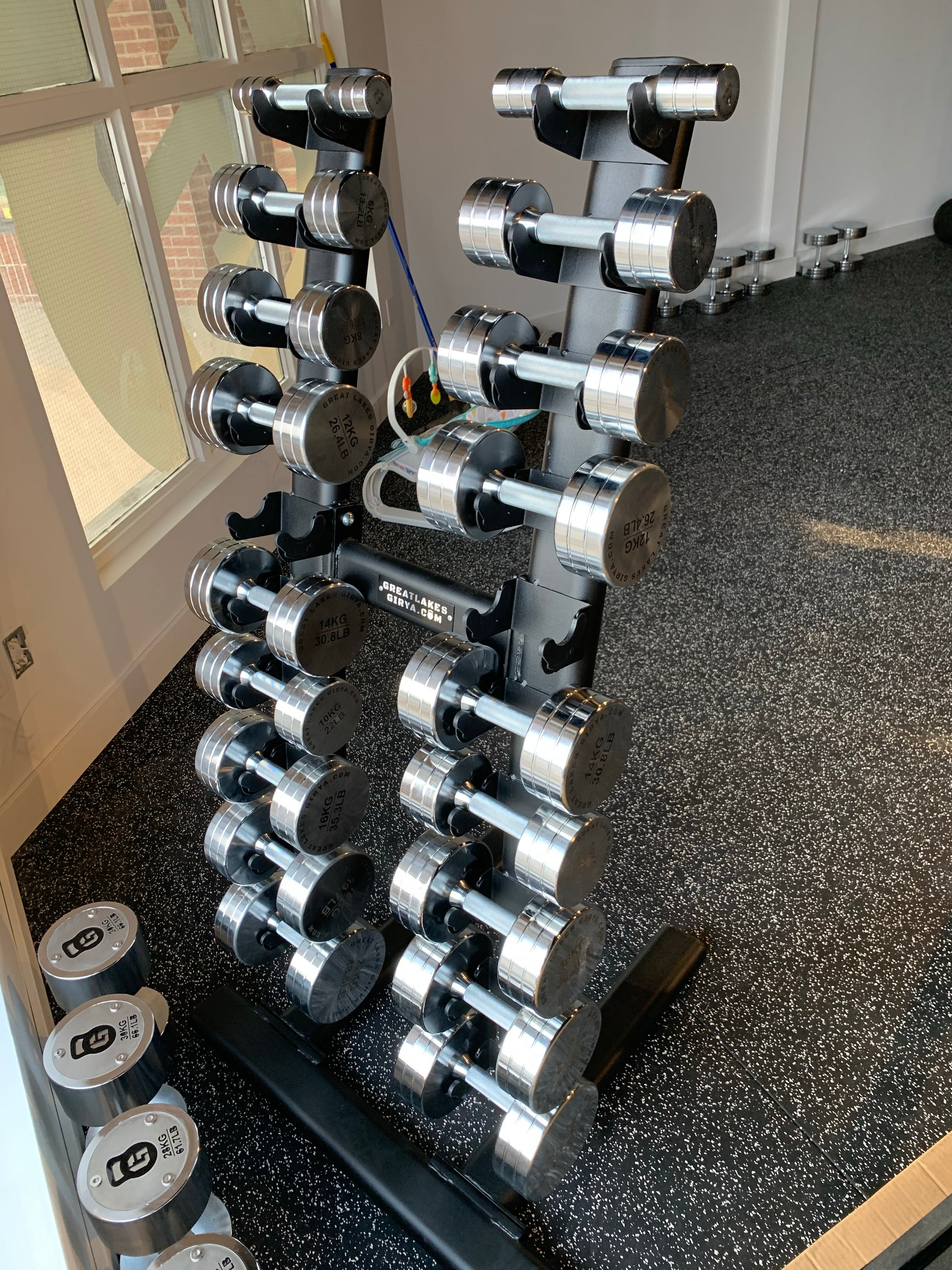GLG chrome dumbbell set 2-30kg - Great Lakes Strength Manufacturing