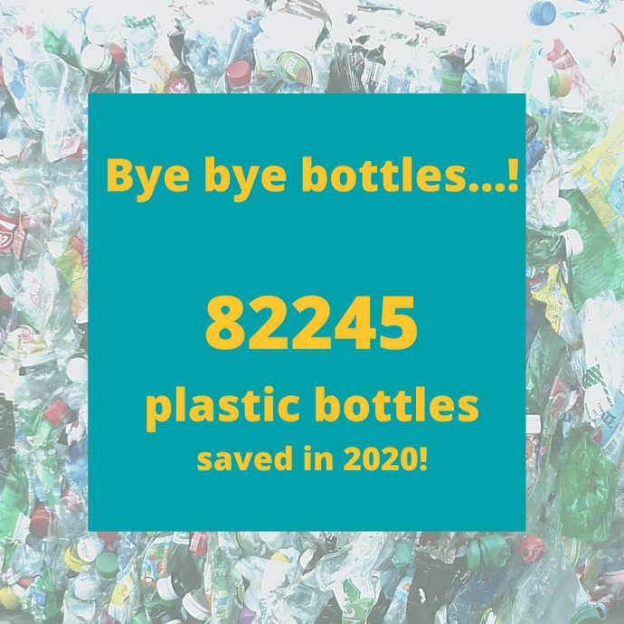 KINKIND HELPS STOP PLASTIC POLLUTION! 82245 PLASTIC BOTTLES SAVED IN 2020!