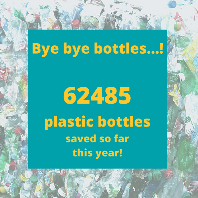 POSITIVE NEWSFLASH! THE NUMBERS ARE IN..... 62,485 PLASTIC BOTTLES SAVED! 💚