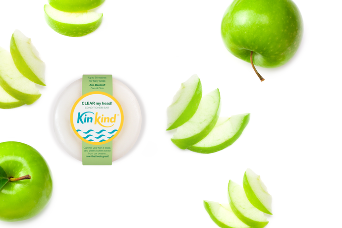 anti dandruff conditioner bar KinKind with apple fragrance