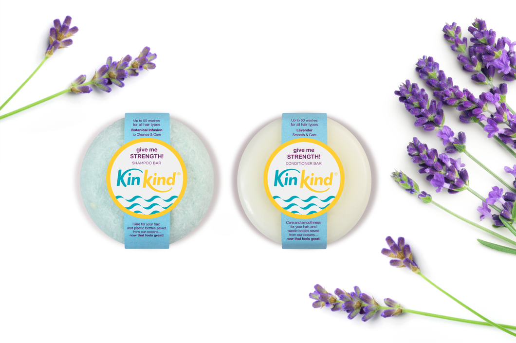 plastic free shampoo and conditioner bars KinKind