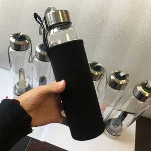 Obsidian Crystal Elixir Water Bottle
