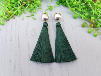 ANASONS CREATIONS - Statement Tassel Emerald Green