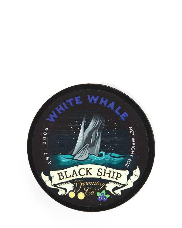 BLACK SHIP GROOMING CO WHITE WHALE SHAVE SOAP 4 OZ