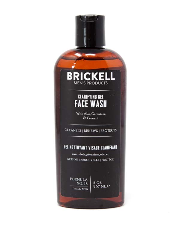 BRICKELL CLARIFYING GEL FACE WASH 8 OZ