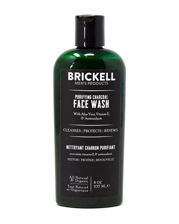 BRICKELL PURIFYING CHARCOAL FACE WASH FOR MEN 8 OZ