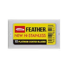 FEATHER HI-STAINLESS DOUBLE EDGE 10 PACK