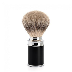 MUHLE SILVERTIP BADGER BLACK RESIN HANDLE SHAVE BRUSH 091 M 106