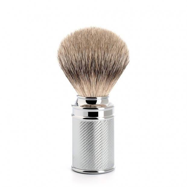 MUHLE SILVERTIP BADGER CHROME PLATED HANDLE SHAVE BRUSH 091 M 89