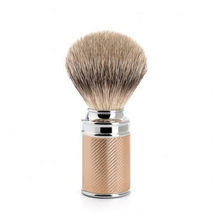 MUHLE SILVERTIP BADGER ROSE GOLD CHROME PLATED HANDLE SHAVE BRUSH 091 M 89 RG