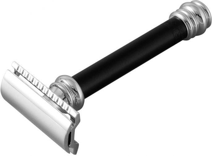 MERKUR 9038011 BLACK BARBER POLE LONG HANDLED SAFETY RAZOR
