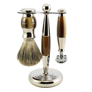 EDWIN JAGGER 3 PIECE HORN/NICKEL SHAVING SET S81M35211SR