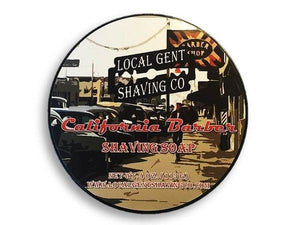 LOCAL GENT SHAVING CO CALIFORNIA BARBER SHAVING SOAP 4 OZ