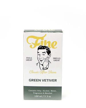 FINE GREEN VETIVER CLASSIC AFTER SHAVE 3.3 OZ