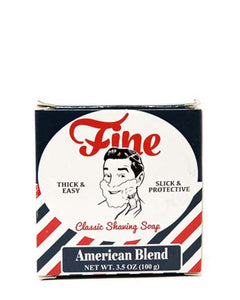 FINE AMERICAN BLEND CLASSIC SHAVING SOAP 3.5 OZ