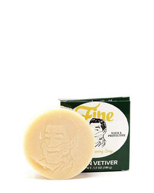 FINE GREEN VETIVER CLASSIC SHAVING SOAP 3.5 OZ