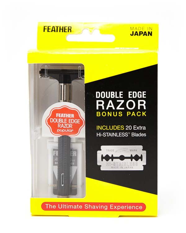 FEATHER DOUBLE EDGE RAZOR BONUS PACK