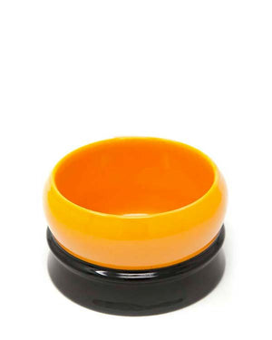 FINE SOAP BOWL ORANGE AND BLACK