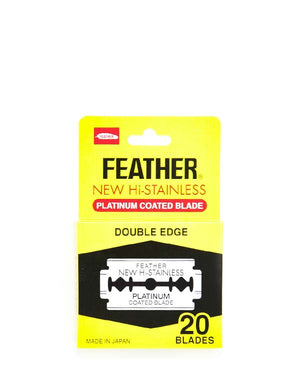 FEATHER NEW HI-STAINLESS DOUBLE EDGE BLADES 20 PACK
