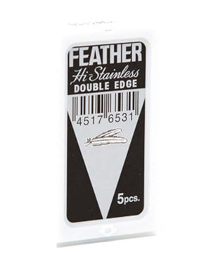 FEATHER HI STAINLESS DOUBLE EDGE BLADES 5 PACK