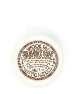 MITCHELL'S ORIGINAL WOOL FAT SHAVING SOAP IN CERAMIC BOWL 4.40 OZ