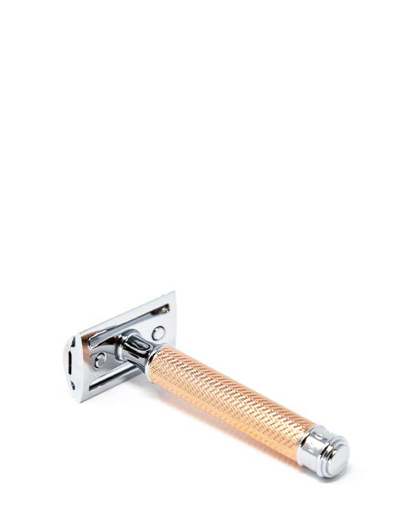 MUHLE R89 ROSEGOLD DOUBLE EDGE SAFETY RAZOR