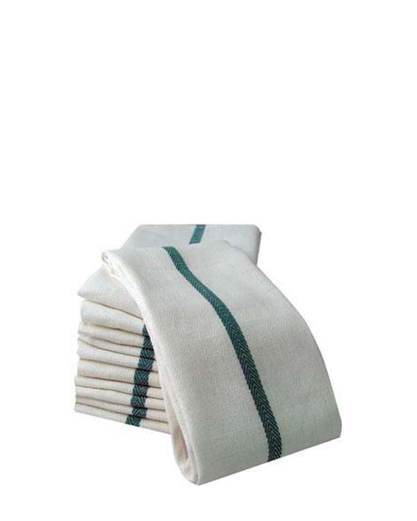 PARTEX GREEN STRIPE BG BARBER TOWEL, 1 PC