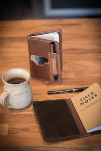 RANGE LEATHER LINCOLN FIELDNOTE JOURNAL, LIGHT BROWN