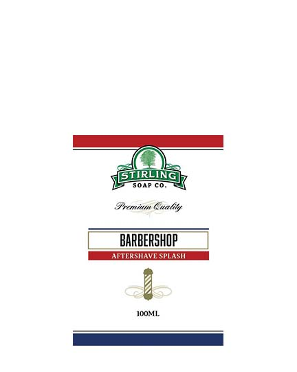 STIRLING SOAP CO BARBERSHOP AFTERSHAVE SPLASH 100ml