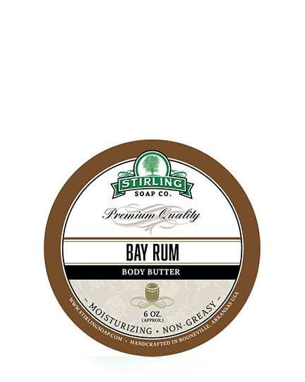 STIRLING SOAP CO BAY RUM BODY BUTTER 6 OZ