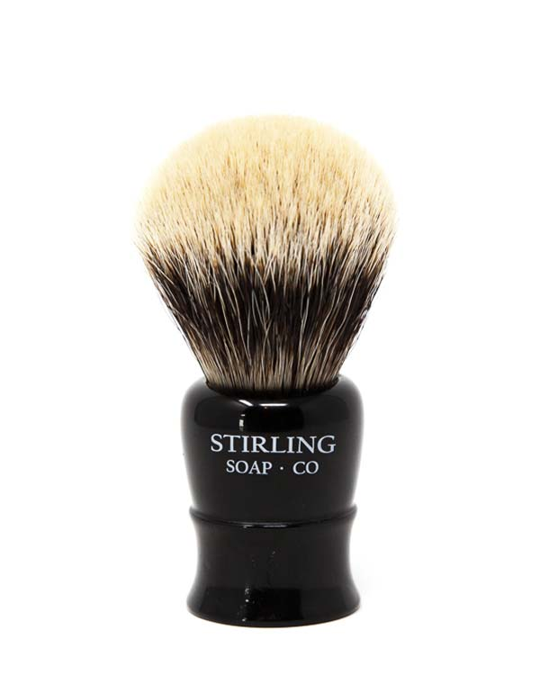 STIRLING SOAP CO FINEST BADGER SHAVE BRUSH, 26mm x 54mm