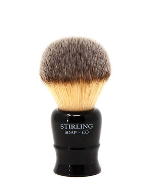 STIRLING SOAP CO LIL BRUDDER SYNTHETIC SHAVE BRUSH, 22mm x 51mm