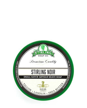 STIRLING SOAP CO STIRLING NOIR SHAVE SOAP 5.8 OZ