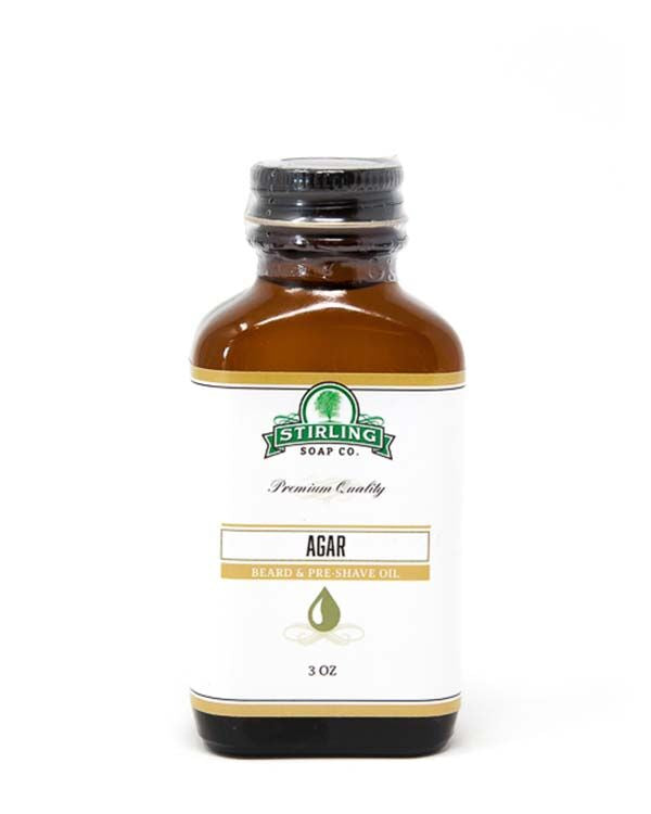 STIRLING SOAP CO AGAR BEARD & PRE-SHAVE OIL 3 OZ