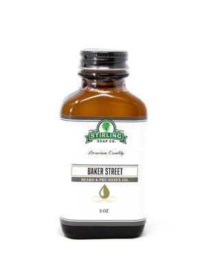 STIRLING SOAP CO BAKER STREET BEARD & PRE-SHAVE OIL 3 OZ